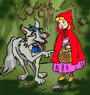 Piroska és a farkas az erdőben